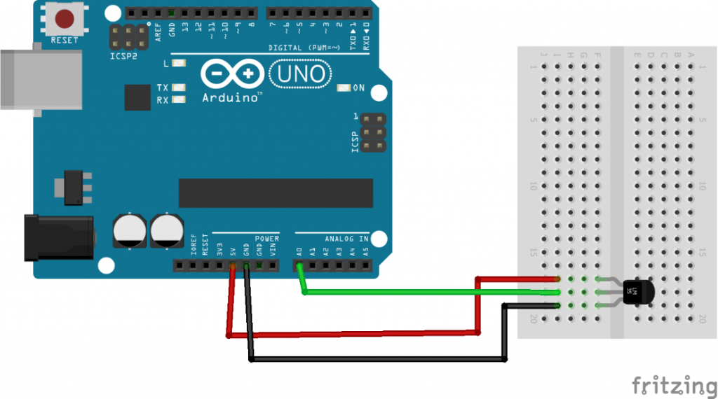 Interfacing of LM35 with Arduino in Proteus ISIS - The